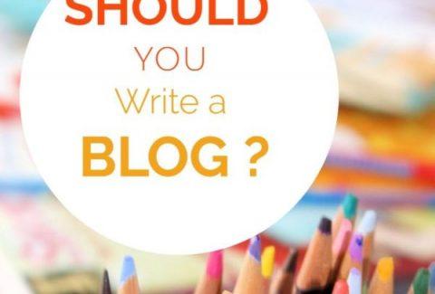 should you write a blog