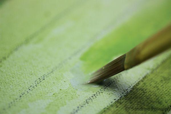 layering acrylic inks