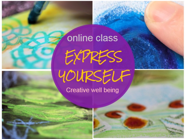express yourself creative well being art therapy online class
