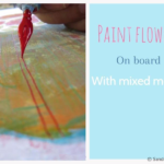 How to paint Acrylic Flowers on board : In Glasgow