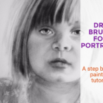Dry brushing painting video tutorial: Portrait of Charlotte