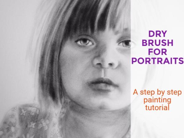 Dry brushing painting video tutorial: Portrait of Charlotte