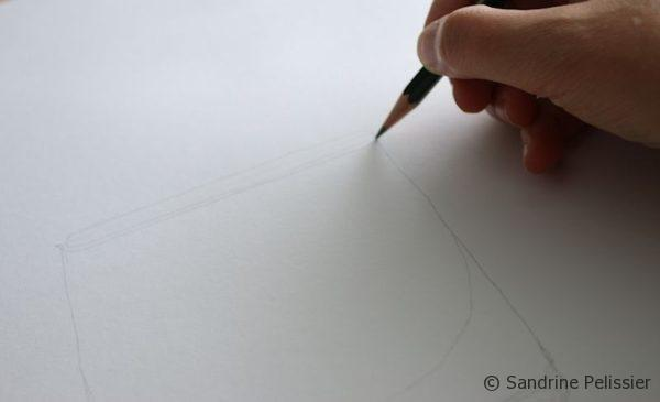 make your drawing on regular paper