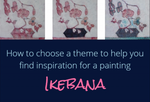 How to choose a theme to help you find inspiration in a painting on ARTiful painting demos by Sandrine Pelissier