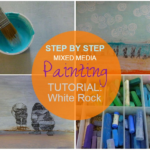 White Rock, step by step mixed media painting tutorial