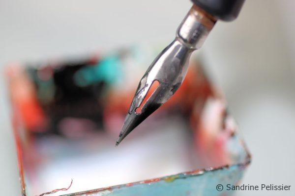 6 masking fluid tips on ARTiful, painting demos by Sandrine Pelissier