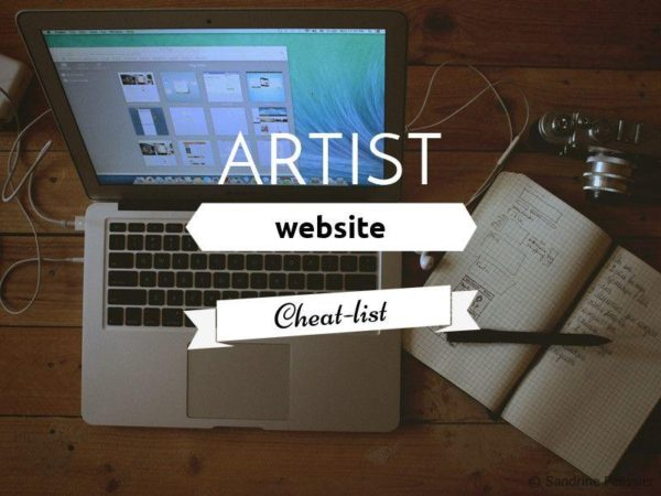 artist website cheatlist on ARTiful painting demos by Sandrine Pelissier