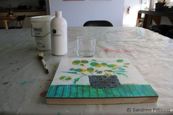 apply spray fixative on top of your finished painting