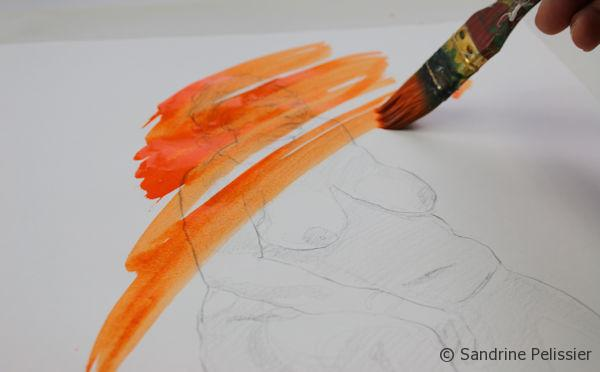 acrylic ink gestural brushstrokes