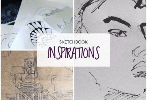 Sketchbook inspirations by Sandrine Lisper on ARTiful, painting demos