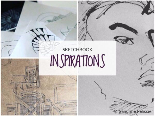Sketchbook inspirations by Sandrine Lisper on ARTiful, painting demos