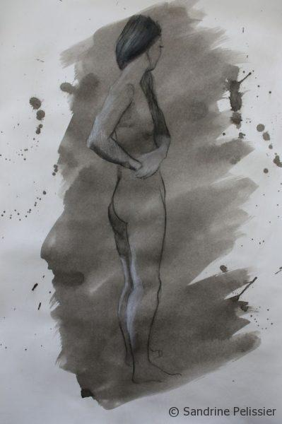 painting with India Ink