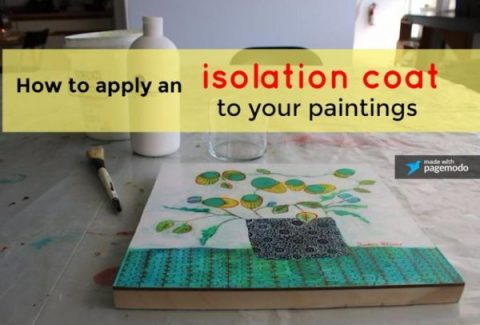 How to apply an isolation coat to your paintings