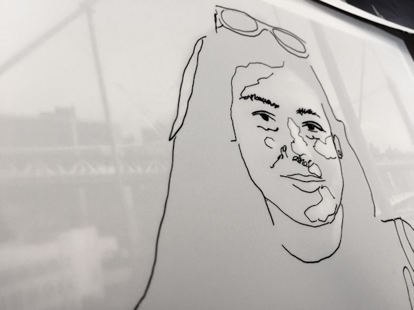 drawing the contours of your scribble portrait
