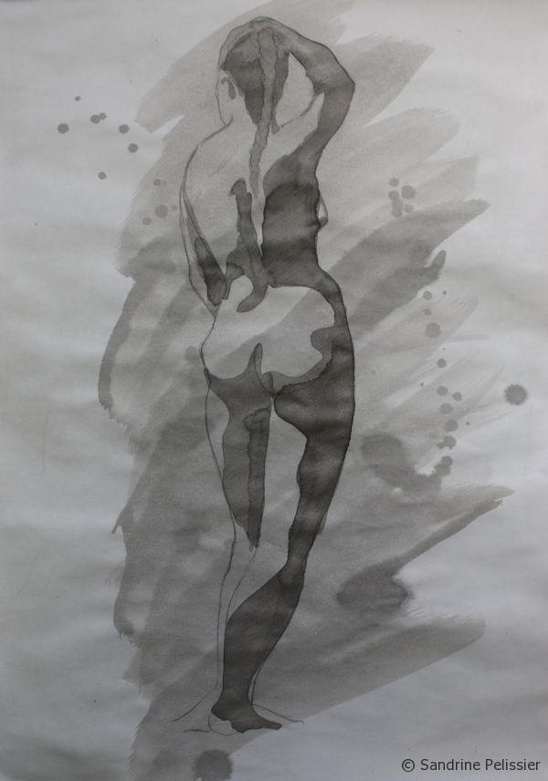 Indian ink painting