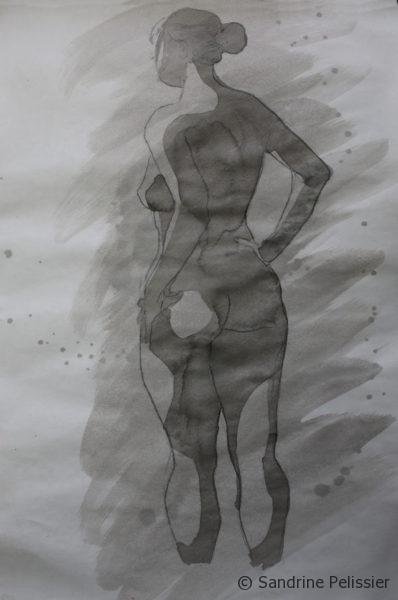 ink figure drawing