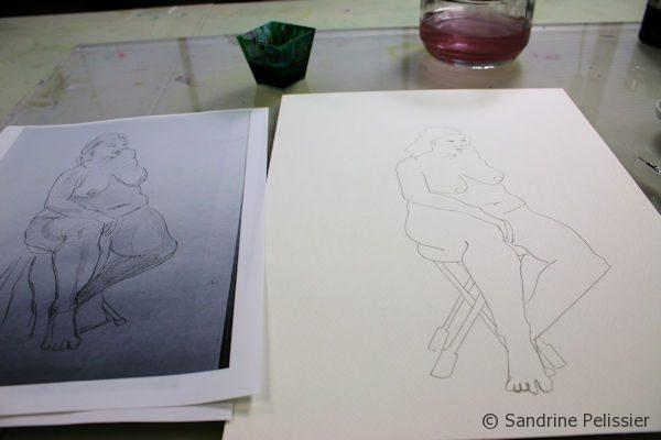 drawing the outline of your figure drawing