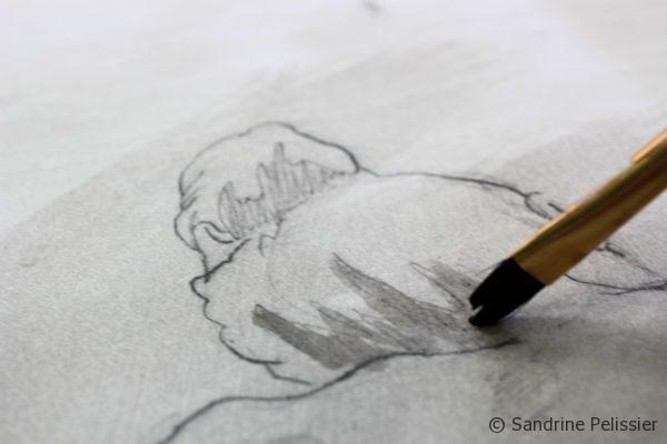 Ink wash drawings