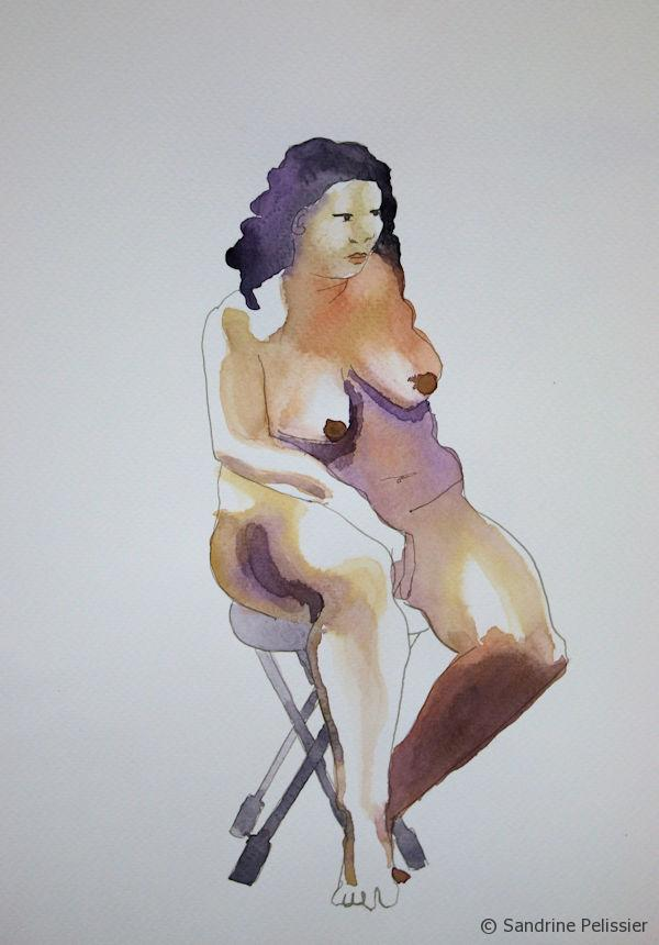 painting the figure with watercolor