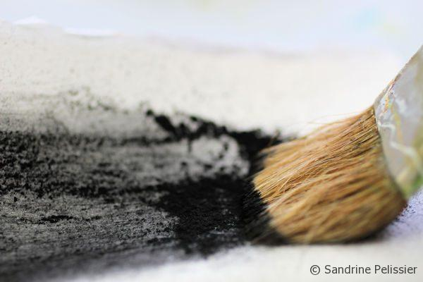 painting with charcoal