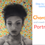 Charcoal portrait on paper step by step : Beehive