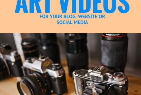Shooting art videos for your blog, website or social media
