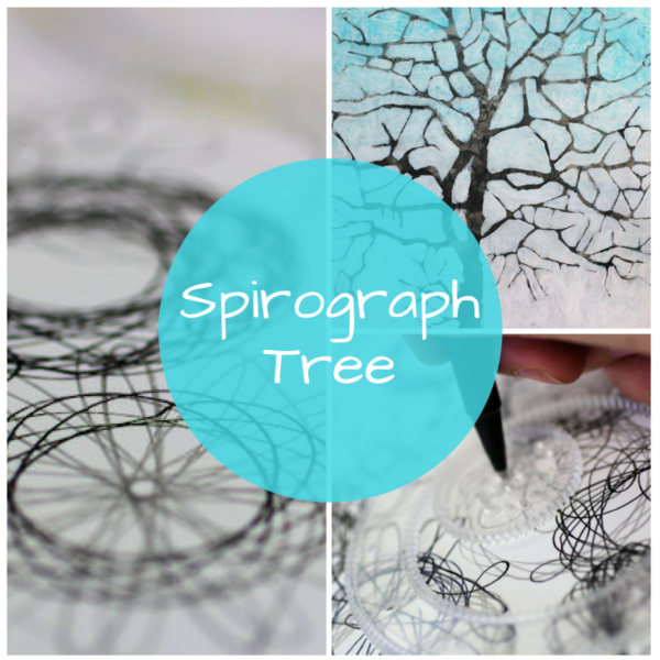 Spirograph Tree: Using a spirograph for visual texture by Sandrine Pelissier on ARTiful, painting demos