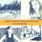 Participate in the Big Picture Art Project with an easy monoprint technique