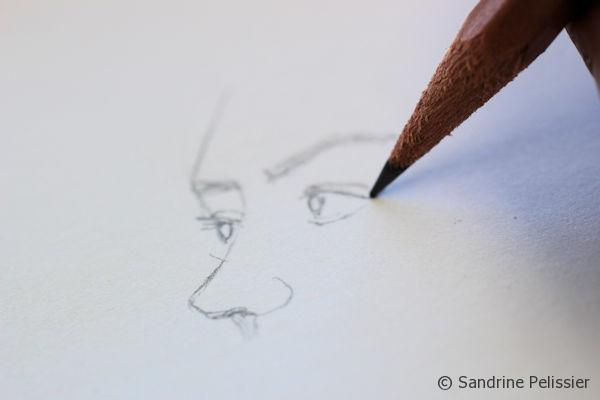 work with pencil first,  especially on portraits so you can make as many corrections as you want to before adding ink.