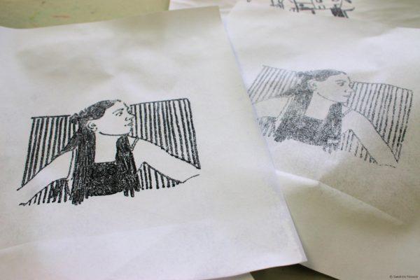 monoprint portraits