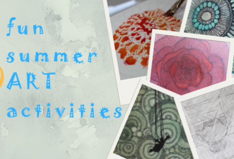 6 fun art summer activities you can do with kids