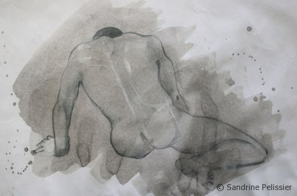 life drawing reworked with Indian ink