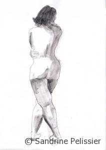 figure drawing by North Vancouver artist Sandrine Pelissier