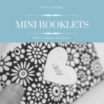 How to make mini 6 pages books from one sheet of paper