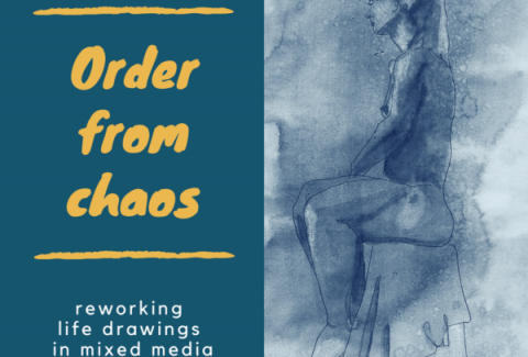 life drawings with mixed media