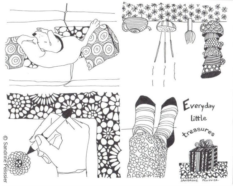 everyday little treasures mini booklet by North Vancouver artist Sandrine Pelissier
