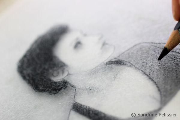 Using the picture underneath as a reference, you can start to draw on the side of the Plexiglas that has been sanded.