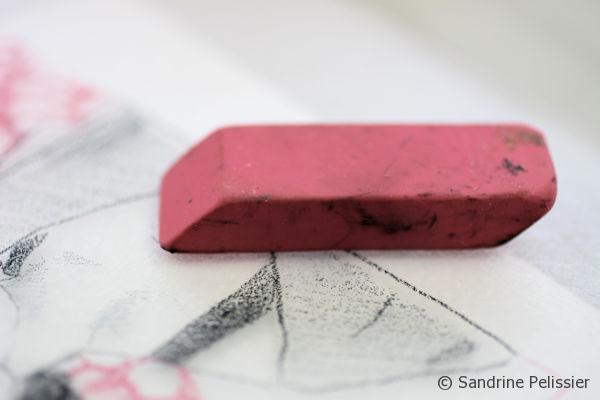 You can erase small mistakes with an eraser, directly on the Plexiglas.