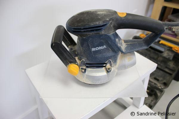 It is easy to do with a handheld sander to sand Plexiglas