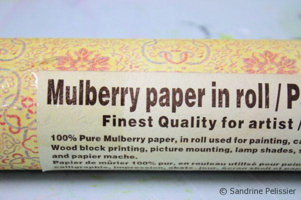 Japanese mulberry paper in roll for block printing