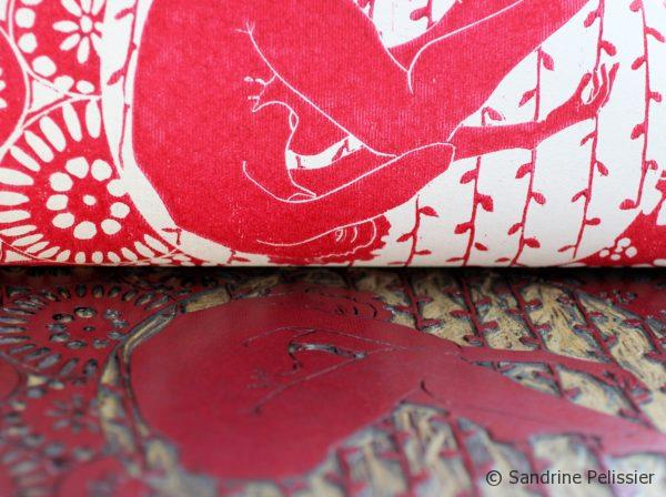 red ink to print on fabric