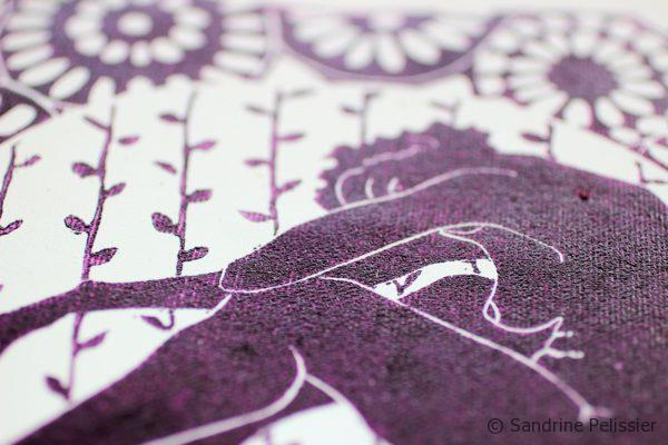 purple ink to print on fabric