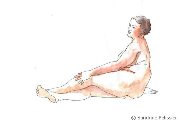 life drawing with watercolor