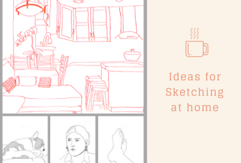 ideas for sketching at home on ARTiful, panting demos