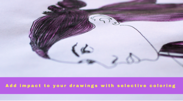 add impact to your drawings with selective coloring