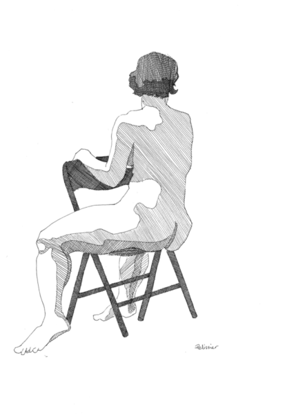 You can also use cross hatching in your life drawings