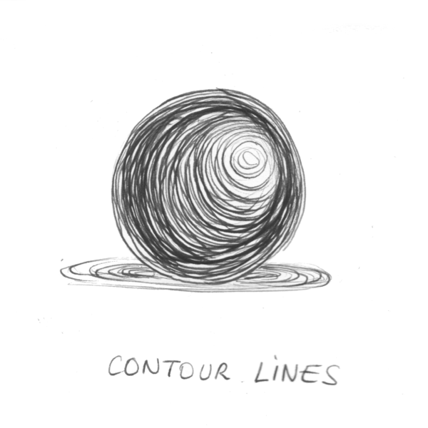 contour lines for shading a drawing