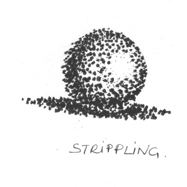strippling technique for shading a drawing
