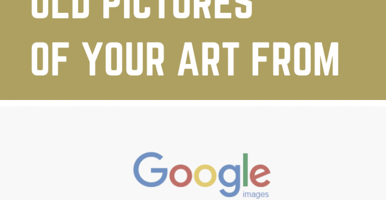 How to remove old pictures of your art from Google