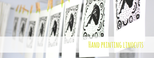 How to hand print by hand lino cut linocut